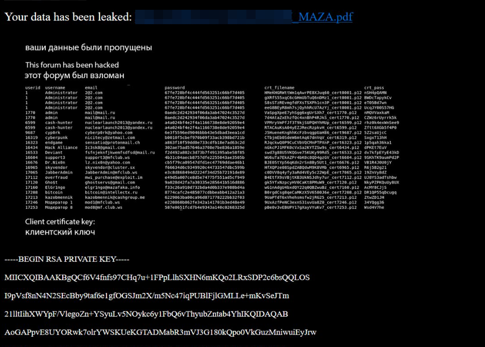 Three Top Russian Cybercrime Forums Hacked