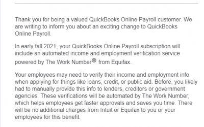 Intuit to Share Payroll Data from 1.4M Small Businesses With Equifax